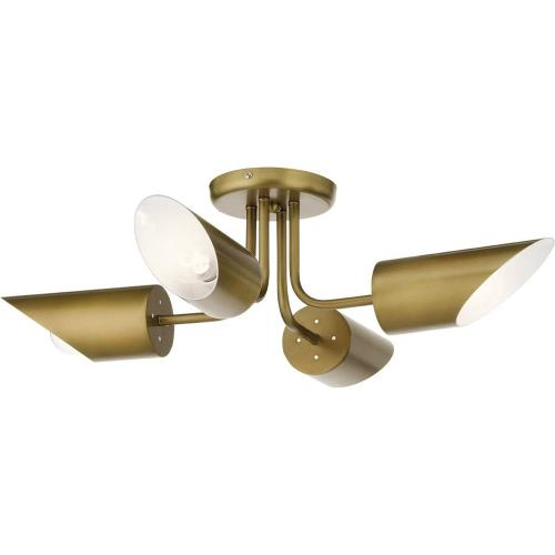 Kichler Lighting 52164 Trentino - 4 light Semi-Flush Mount - 8 inches tall by 28 inches wide