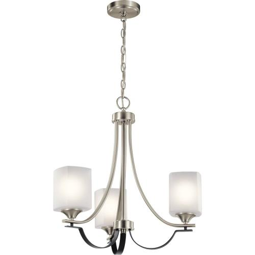 Kichler Lighting 52275 Tula - 3 light Convertible Chandelier - 21.5 inches tall by 21 inches wide