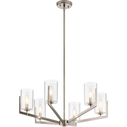 Kichler Lighting 52314 Nye - 6 light Meidum Chandelier - with Transitional inspirations - 14.75 inches tall by 28 inches wide