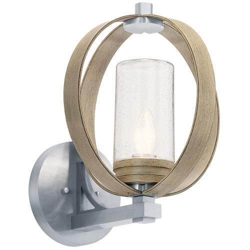 Kichler Lighting 59067 Grand Bank - 1 Light Large Outdoor Wall Lantern - with Lodge/Country/Rustic inspirations - 15.25 inches tall by 12 inches wide