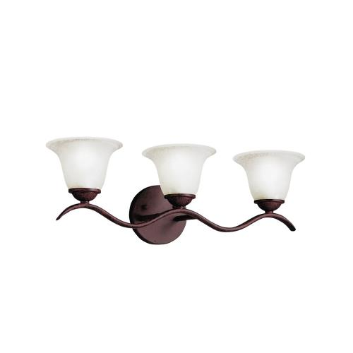 Kichler Lighting 6323 Dover - 3 light Bath Strip - with Transitional inspirations - 7.75 inches tall by 22.5 inches wide