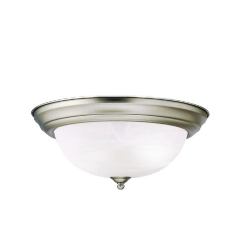 Kichler Lighting 8109 2 light Flush Mount - with Utilitarian inspirations - 5.25 inches tall by 13.25 inches wide