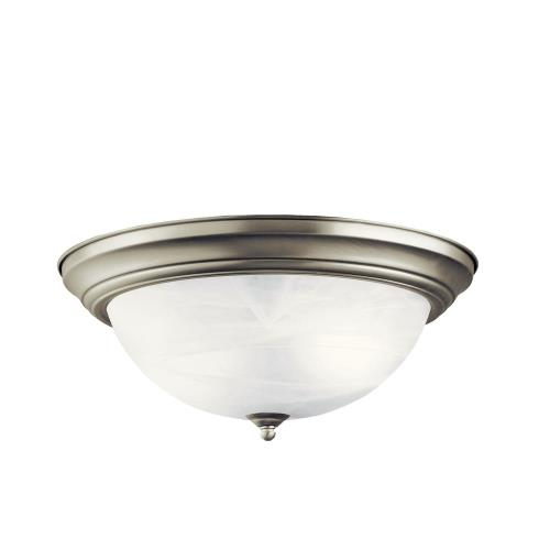 Kichler Lighting 8110 3 light Flush Mount - with Utilitarian inspirations - 6 inches tall by 15.25 inches wide