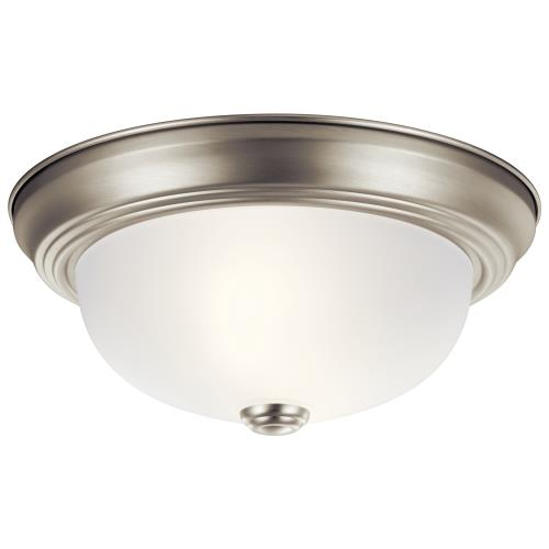 Kichler Lighting 8111 2 light Flush Mount - with Utilitarian inspirations - 4.75 inches tall by 11.25 inches wide