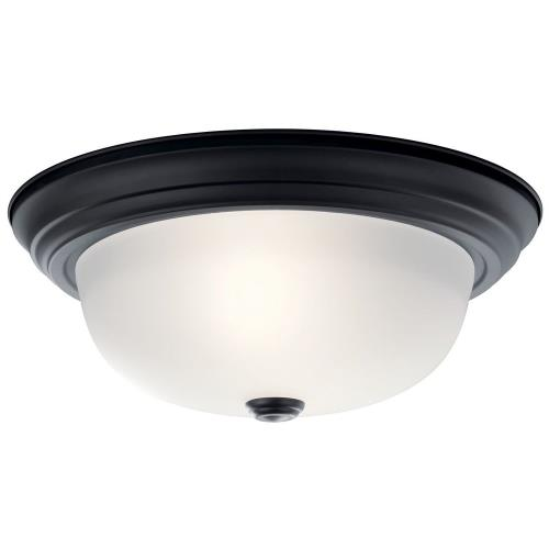 Kichler Lighting 811 - 2 Light Flush Mount - with Transitional inspirations - 5.25 inches tall by 13.25 inches wide