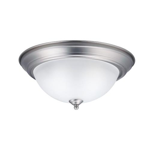 Kichler Lighting 8112 2 light Flush Mount - with Utilitarian inspirations - 5.25 inches tall by 13.25 inches wide