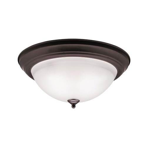 Kichler Lighting 8116 Wide 3-Light Flush Mount - with Utilitarian inspirations - 6 inches tall by 15.25 inches wide