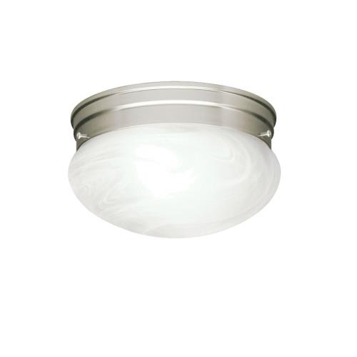 Kichler Lighting 8209NI Ceiling Space - 2 light Flush Mount - with Utilitarian inspirations - 5.5 inches tall by 9.25 inches wide