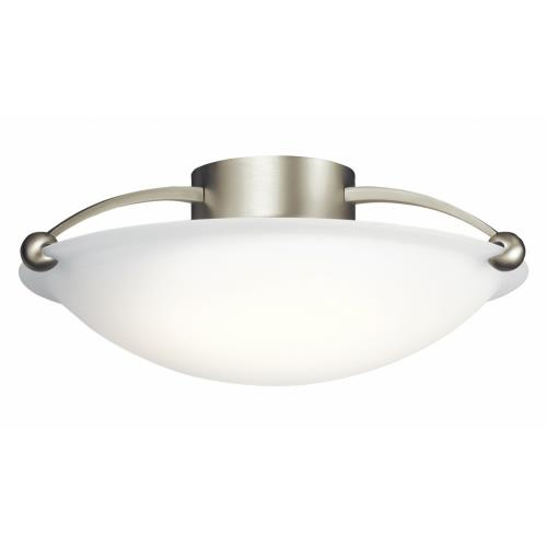 Kichler Lighting 8406NI 3 light Flush Mount - with Contemporary inspirations - 6.5 inches tall by 17 inches wide