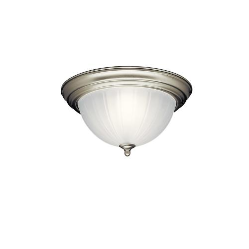 Kichler Lighting 8654 2 light Flush Mount - with Utilitarian inspirations - 5.5 inches tall by 13.25 inches wide