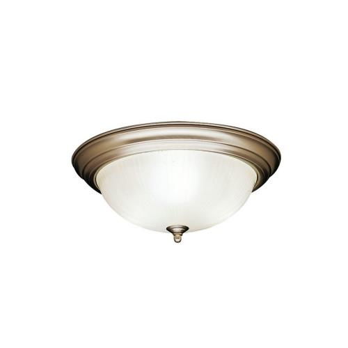 Kichler Lighting 8655 3 light Flush Mount - with Utilitarian inspirations - 6 inches tall by 15.25 inches wide