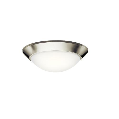 Kichler Lighting 8882NI Ceiling Space - 2 light Flush Mount - with Contemporary inspirations - 5.5 inches tall by 16.5 inches wide