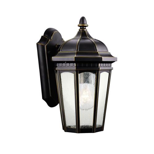 Kichler Lighting 9032 Courtyard - 1 light Outdoor Small Wall Mount - with Traditional inspirations - 11 inches tall by 6.25 inches wide
