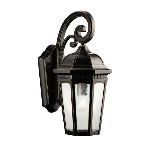 Kichler Lighting 9033 Courtyard - 1 light Outdoor Medium Wall Mount - with Traditional inspirations - 17.75 inches tall by 8.25 inches wide
