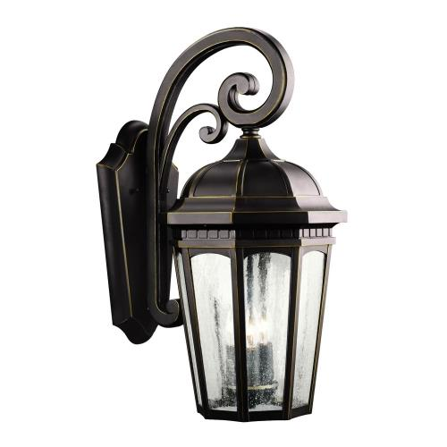 Kichler Lighting 9034 Courtyard - 3 light Outdoor X-Large Wall Mount - with Traditional inspirations - 22.25 inches tall by 10.25 inches wide