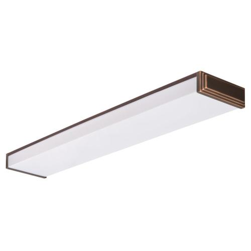 Lithonia Lighting 10648RE BZ Riser - Two Light Flush Mount