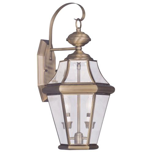 Livex Lighting 2261-01 Georgetown - Two Light Outdoor Wall Lantern