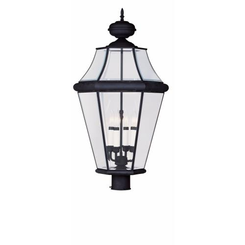 Livex Lighting 2368-04 Georgetown - Four Light Outdoor Post Head