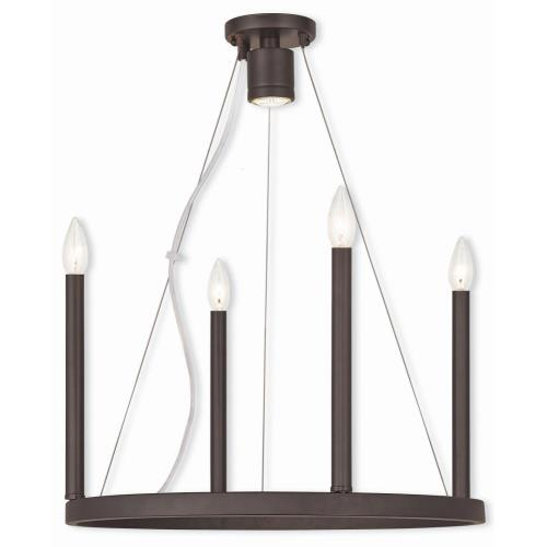 Livex Lighting 40244 Alpine - Five Light Chandelier in Alpine Style - 20 Inches wide by 25 Inches high