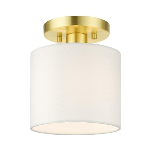 Livex Lighting 41094 Meridian - 1 Light Semi-Flush Mount in Meridian Style - 7 Inches wide by 8.5 Inches high