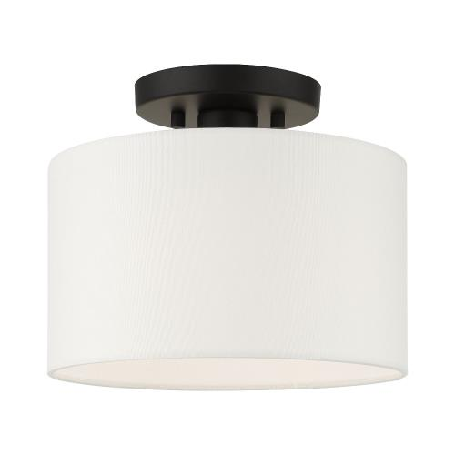 Livex Lighting 41095 Clark - 1 Light Flush Mount in Clark Style - 13 Inches wide by 8.5 Inches high