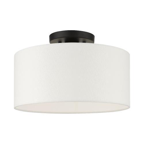 Livex Lighting 41097 Meridian - 13 Inch 1 Light Semi-Flush Mount