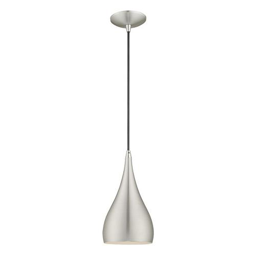 Livex Lighting 41171 Metal Shade - 1 Light Mini Pendant in Metal Shade Style - 6.25 Inches wide by 17 Inches high