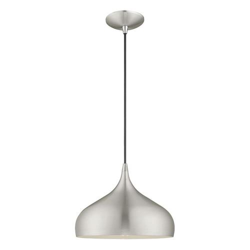 Livex Lighting 41172 Metal Shade - 1 Light Mini Pendant in Metal Shade Style - 11.75 Inches wide by 15 Inches high