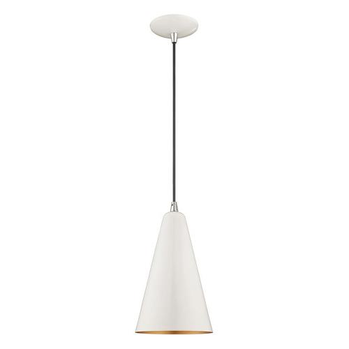 Livex Lighting 41175 Metal Shade - 1 Light Mini Pendant in Metal Shade Style - 7.38 Inches wide by 18 Inches high