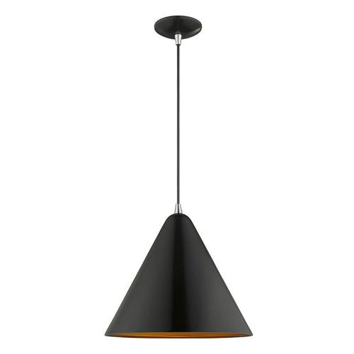 Livex Lighting 41176 Metal Shade - 1 Light Mini Pendant in Metal Shade Style - 14 Inches wide by 18 Inches high