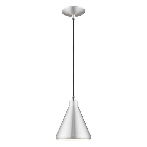 Livex Lighting 41177 Metal Shade - 1 Light Mini Pendant in Metal Shade Style - 7 Inches wide by 14 Inches high