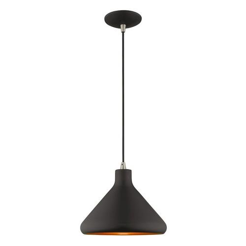 Livex Lighting 41178 Metal Shade - 1 Light Mini Pendant in Metal Shade Style - 10.5 Inches wide by 14 Inches high