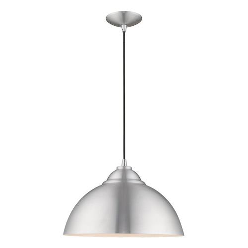 Livex Lighting 41180 Metal Shade - 1 Light Mini Pendant in Metal Shade Style - 15.5 Inches wide by 15 Inches high