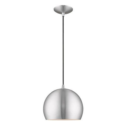 Livex Lighting 41181 Metal Shade - 1 Light Mini Pendant in Metal Shade Style - 10 Inches wide by 14 Inches high