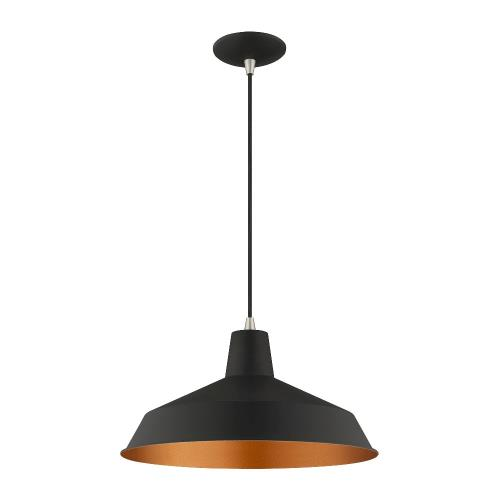 Livex Lighting 41183 Metal Shade - 1 Light Mini Pendant in Metal Shade Style - 16 Inches wide by 14 Inches high