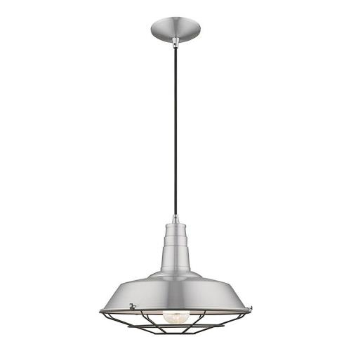 Livex Lighting 41184 Metal Shade - 1 Light Mini Pendant in Metal Shade Style - 14 Inches wide by 16 Inches high