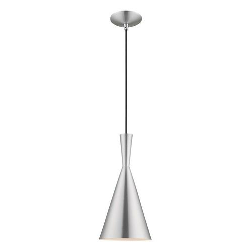 Livex Lighting 41185 Metal Shade - 1 Light Mini Pendant in Metal Shade Style - 7.25 Inches wide by 21 Inches high