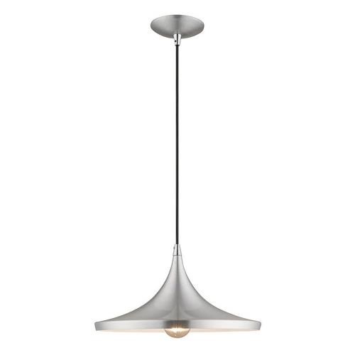 Livex Lighting 41187 Metal Shade - 1 Light Mini Pendant in Metal Shade Style - 14 Inches wide by 13 Inches high