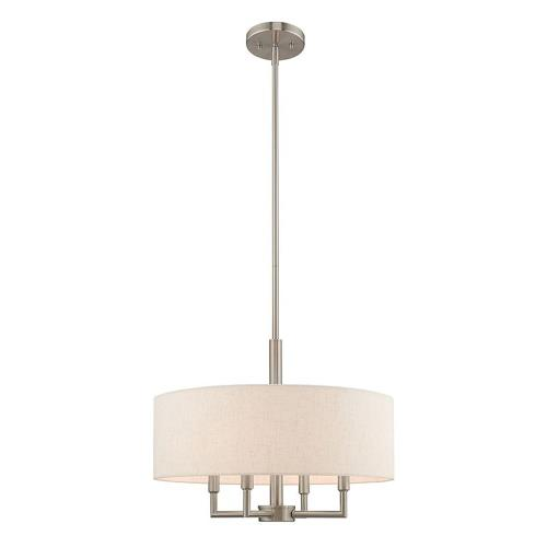 Livex Lighting 42604 Meridian - 4 Light Pendant in Meridian Style - 18 Inches wide by 22.5 Inches high