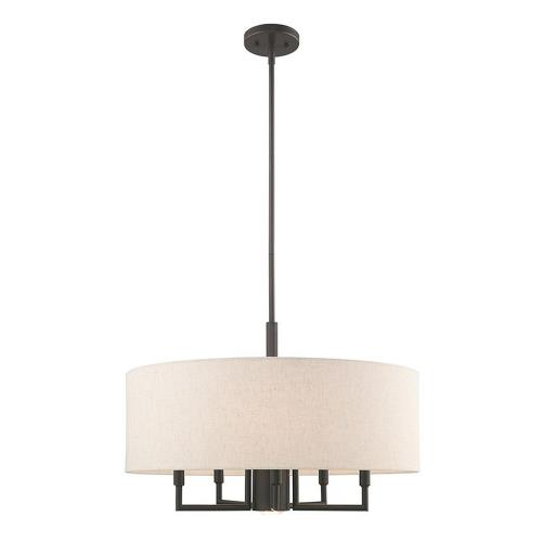 Livex Lighting 42605 Meridian - 6 Light Pendant in Meridian Style - 24 Inches wide by 24.5 Inches high