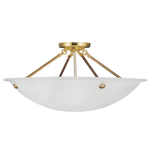 Livex Lighting 4275 Oasis - 4 Light Flush Mount in Oasis Style - 24 Inches wide by 9.5 Inches high