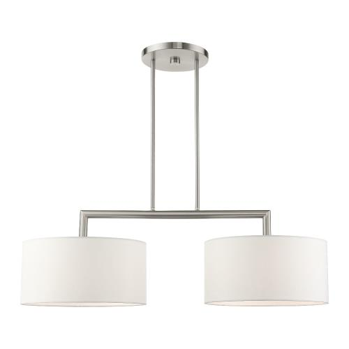 Livex Lighting 45492 Meridian - 2 Light Linear Chandelier in Meridian Style - 14 Inches wide by 18 Inches high