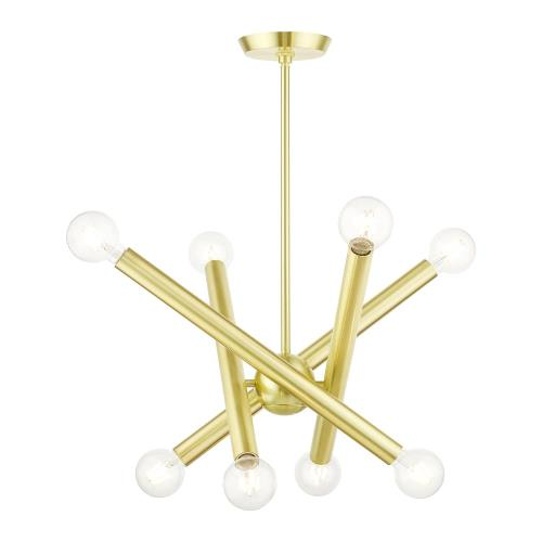 Livex Lighting 45584 Stafford - 8 Light Chandelier in Stafford Style - 24 Inches wide by 20.25 Inches high