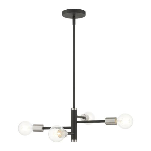 Livex Lighting 45864 Bannister - 4 Light Chandelier in Bannister Style - 18 Inches wide by 15.5 Inches high