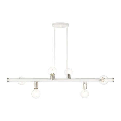 Livex Lighting 45866 Bannister - 6 Light Linear Chandelier in Bannister Style - 6 Inches wide by 16.75 Inches high