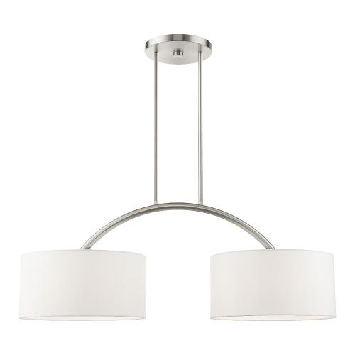 Livex Lighting 45982-91 Meridian - 2 Light Linear Chandelier in Meridian Style - 14 Inches wide by 20 Inches high