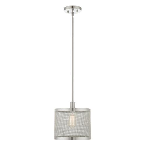 Livex Lighting 46212 Industro - 1 Light Pendant in Industro Style - 10 Inches wide by 18.25 Inches high