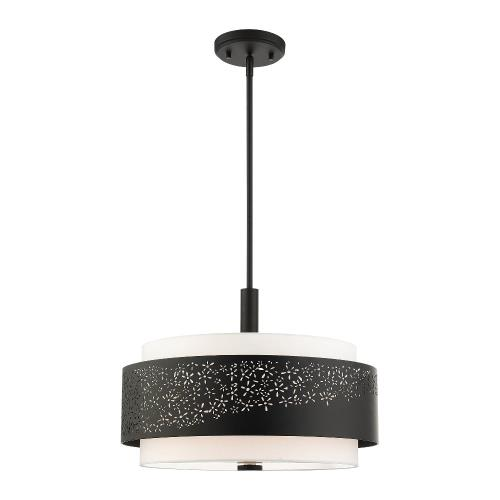 Livex Lighting 46254-04 Noria - 4 Light Chandelier in Noria Style - 20 Inches wide by 17.25 Inches high