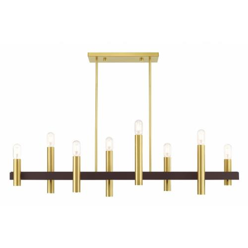 Livex Lighting 46868 Helsinki - 8 Light Chandelier in Helsinki Style - 10 Inches wide by 24 Inches high