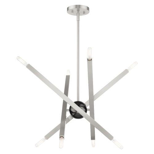 Livex Lighting 46985 Moco - 8 Light Chandelier in Moco Style - 26 Inches wide by 21 Inches high